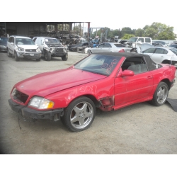 Used 2001 Mercedes 220 Chassis S500 Parts - Red with black interior, 8 cylinder, Automatic transmission*