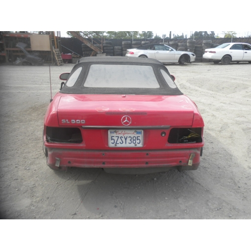Used 2001 Mercedes 220 Chassis S500 Parts Red With Black Interior 8 Cylinder Automatic