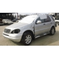 Used 2000 Mercedes 163 Chassis ML430 Parts Car- Silver with black interior, 8 cylinder, automatic transmission