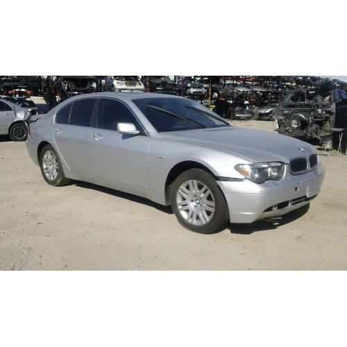 used 2003 bmw 745i parts silver with black interior 8. Black Bedroom Furniture Sets. Home Design Ideas