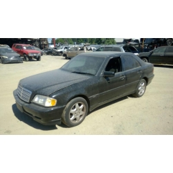 Used 1998 Mercedes 202 Chassis C280 Parts - Black with black interior, 6 cylinder engine, automatic  transmission