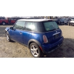 Used 2003 Mini Cooper Parts - Blue with black interior, 4 cylinder engine, 5 spd transmission