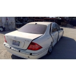 Used 2001 Mercedes 220 Chassis S500 Parts - Wihte with brown interior, 8 cylinder, automatic transmission