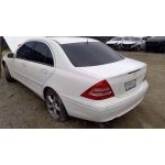 Used 2002 Mercedes 203 Chassis C240 Parts - White with brown interior, 6 cylinder engine, automatic transmission